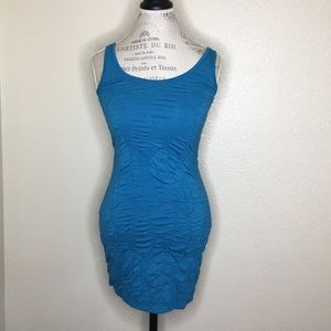 Material Girl Size Small Teal Bodycon Tank Dress
